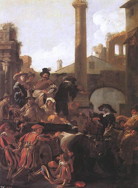 Jan Miel, Carnevale a Roma
