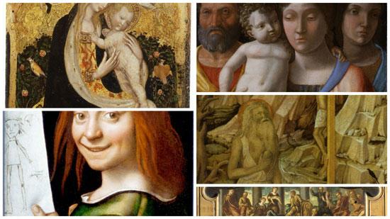 Alcune delle opere rubate al Museo di Castelvecchio