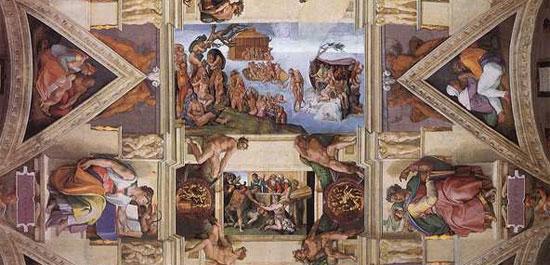 Michelangelo, la volta della Cappella Sistina