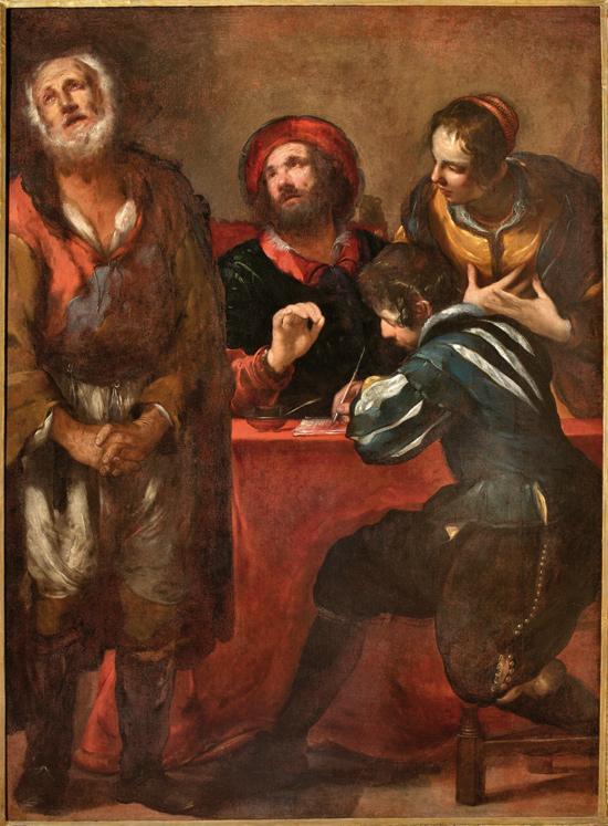 Luciano Borzone, Negazione di san Pietro