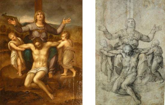 Cesare Corte e Michelangelo, Pietà