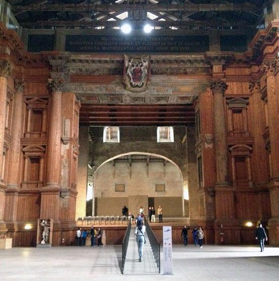 Il palcoscenico del Teatro Farnese