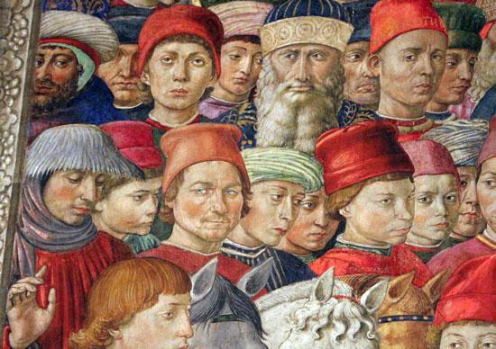 Benozzo Gozzoli, Ritratto di Marsilio Ficino nella Cappella dei Magi