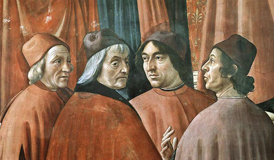 Gli umanisti nella Cappella Tornabuoni di Domenico Ghirlandaio