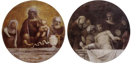 Correggio, Sacra Famiglia e Deposizione