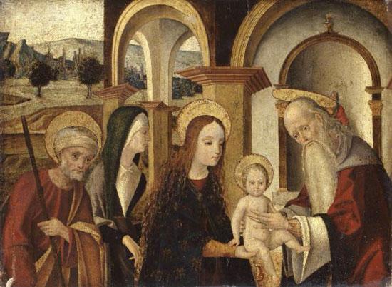Michele Coltellini, Presentazione al tempio