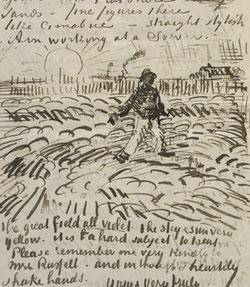 Vincent Van Gogh, Schizzo per Il seminatore