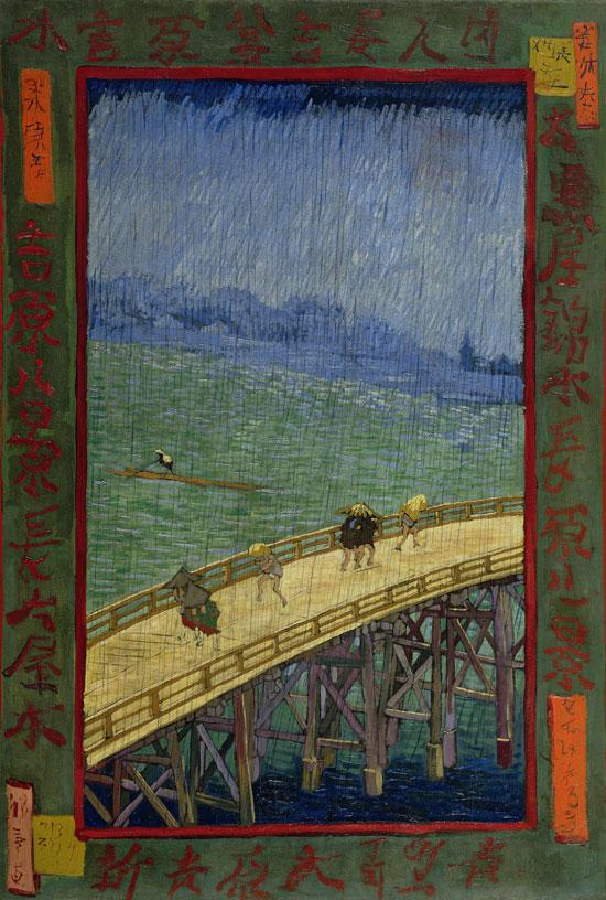 Vincent Van Gogh, Ponte sotto la pioggia