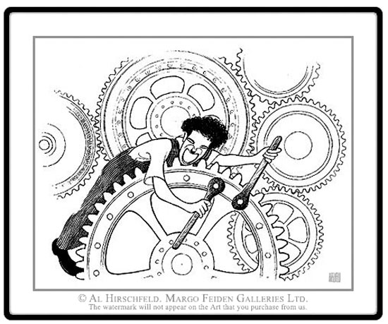 Al Hirschfeld, Charlie Chaplin in Tempi Moderni