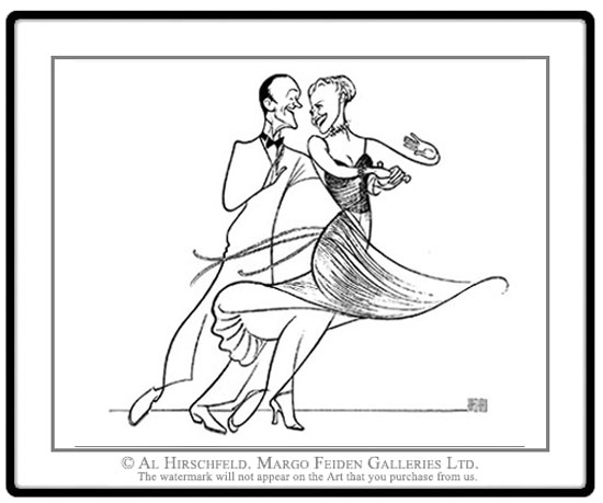 Al Hirschfeld, Fred Astaire e Ginger Rogers