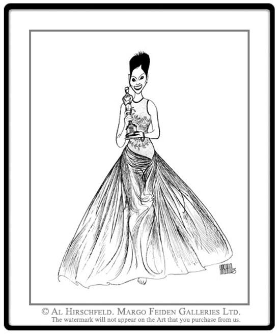 Al Hirschfeld, Halle Berry