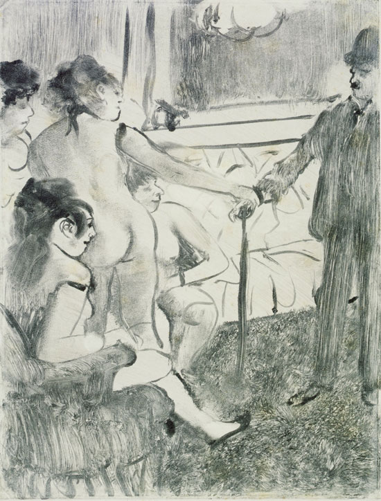 Edgar Degas, Il cliente serio