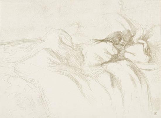 Henri de Toulouse-Lautrec, Femme couchée - Réveil