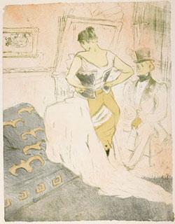 Henri de Toulouse-Lautrec, Femme en corset - Conquête de passage
