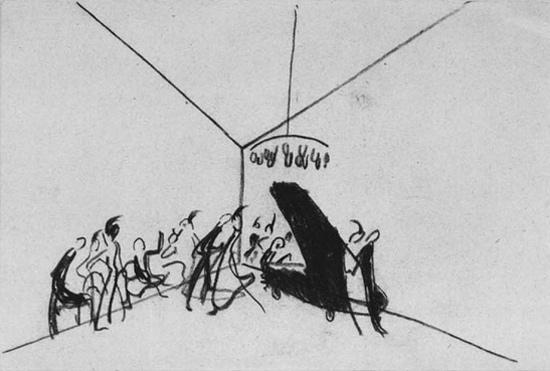 Vasilij Kandinskij, Primo schizzo per Impressione III (Concerto)