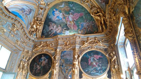 Lorenzo De Ferrari, Storie di Enea (1743-1744; affreschi e dipinti a olio su tela; Genova, Palazzo Tobia Pallavicino)