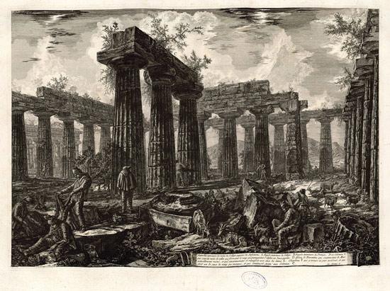 Giovanni Battista Piranesi, Veduta dei resti del supposto Collegio