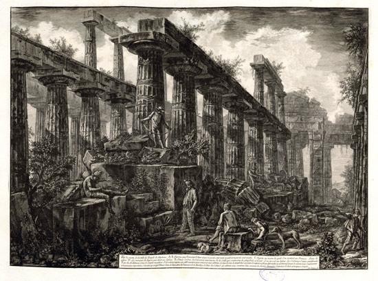 Giovanni Battista Piranesi, Veduta dei resti del tempio di Nettuno a Paestum