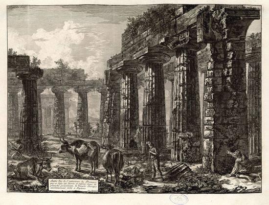 Giovanni Battista Piranesi, Veduta dell'interno del Pronao