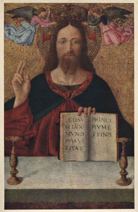 Seguace di Melozzo da Forlì, Cristo benedicente