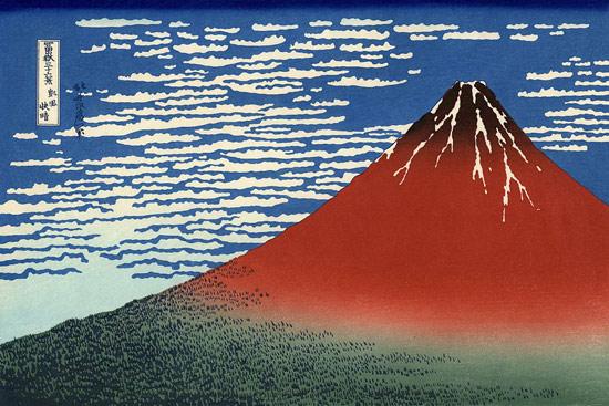 Le immagini del mondo fluttuante di hokusai - Immagini fantasma a colori ...