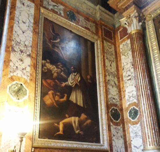 Giovanni Baglione, San Carlo Borromeo cura gli appestati (1641)