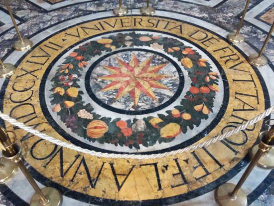 La tarsia marmorea dell'Università dei Fruttaroli