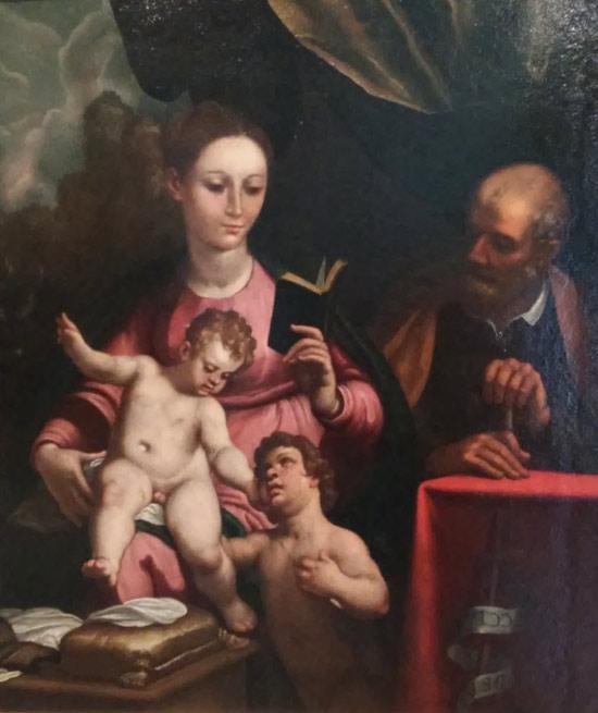 Bernardo Castello, Sacra Famiglia con san Giovannino