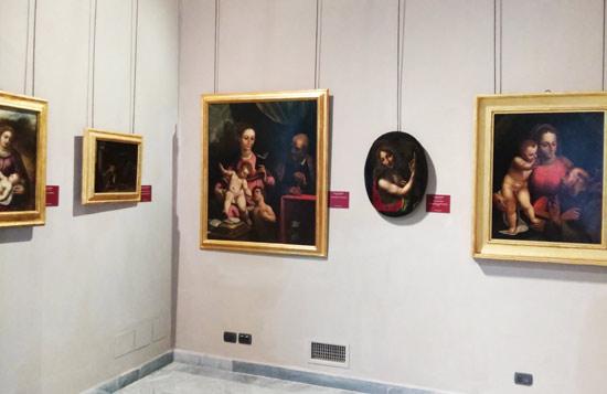 Alcune delle opere di nuovo esposte al pubblico nelle sale di Palazzo Rosso