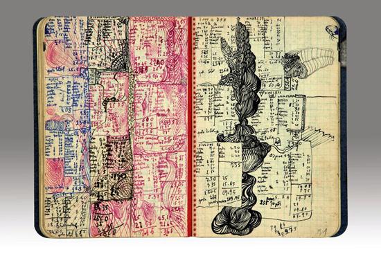 Due pagine del diario di Salvaro Dalí