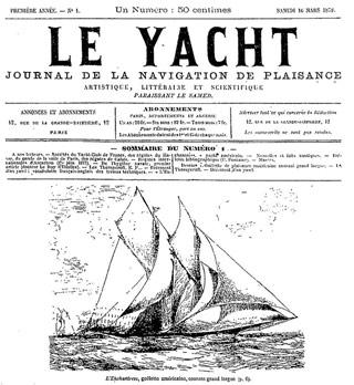 Il primo numero di Le Yacht