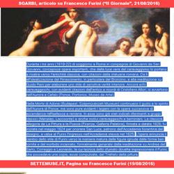 Sgarbi, articolo su Francesco Furini - voce su Francesco Furini del Dizionario Biografico degli Italiani