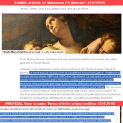 Sgarbi, articolo sul Morazzone - voce su santa Teresa d'Ávila di Wikipedia