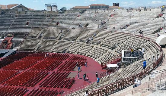 Interno dell'Arena di Verona