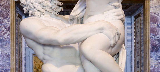 Gian Lorenzo Bernini, Il ratto di Persefone, particolare