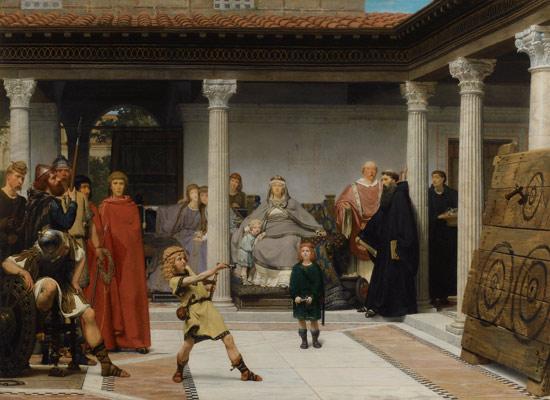 Lawrence Alma-Tadema, L'educazione dei figli di Clodoveo