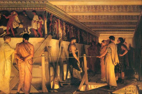 Lawrence Alma-Tadema, Fidia mostra il fregio del Partenone
