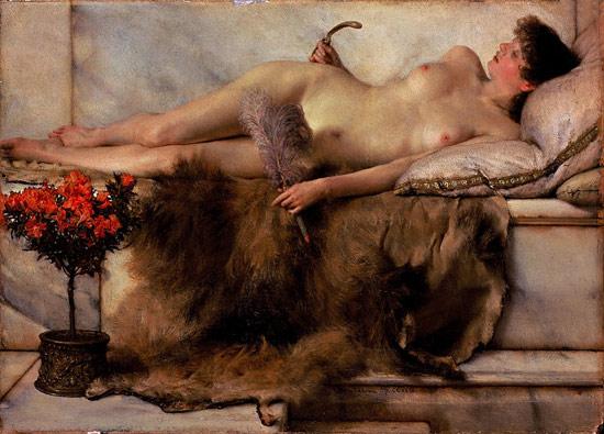 Lawrence Alma-Tadema, Nel tepidarium