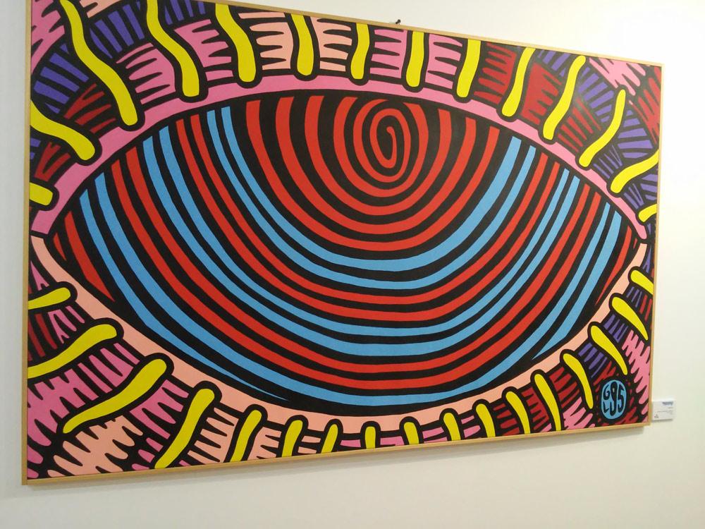"""Prof. Bad Trip, """"Bad Eye"""" (1995; acrilico su tela, 147 x 95 cm)"""
