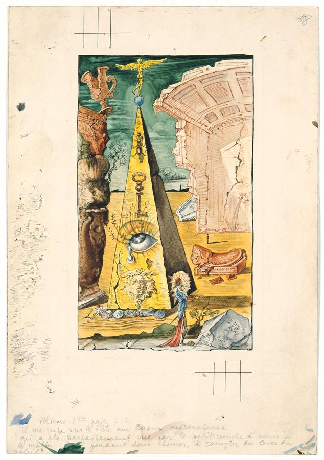 Salvador Dalí, Illustrazione per The Autobiography of Benvenuto Cellini