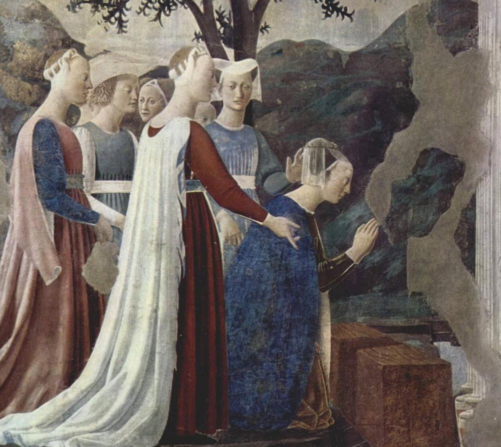 Piero della Francesca, Adorazione del Sacro Legno e incontro tra Salomone e la Regina di Saba
