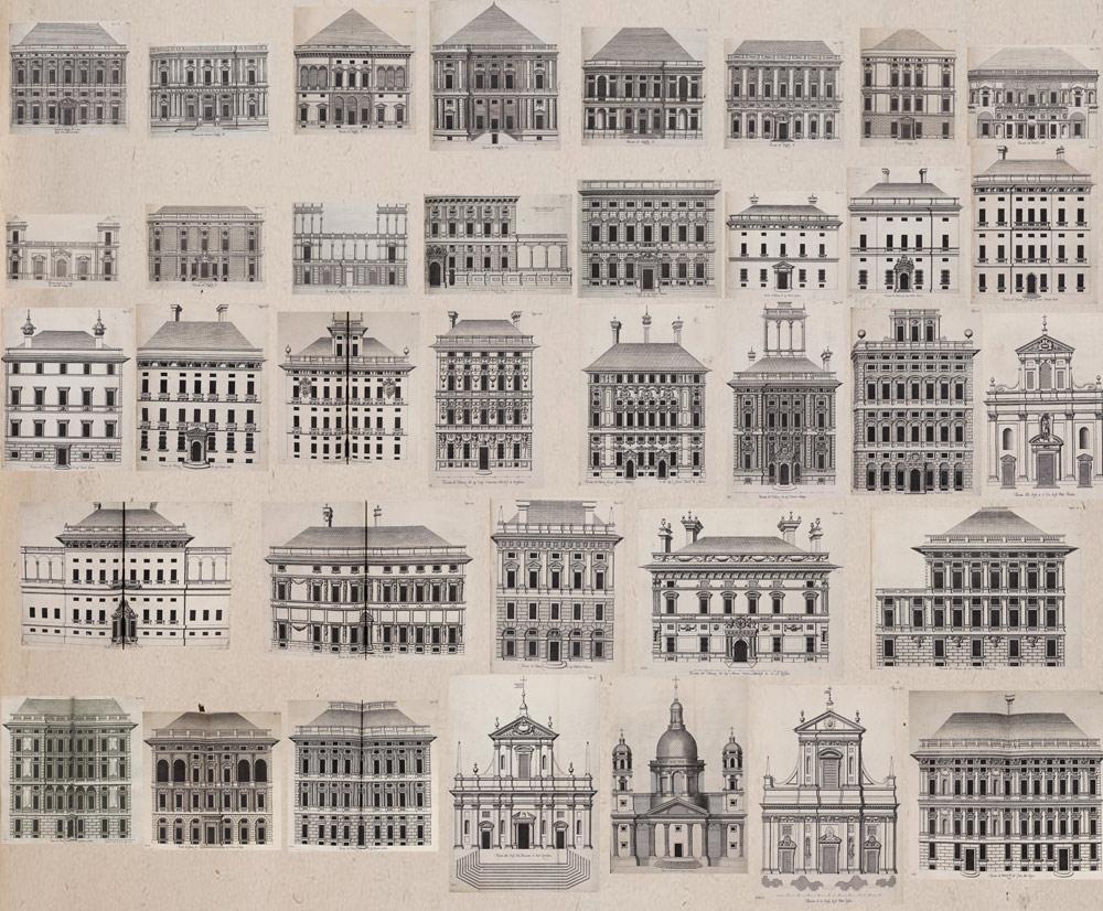 Illustrazioni degli edifici tratte da Palazzi di Genova di Rubens