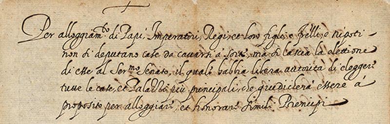 Inizio del rollo del 1599