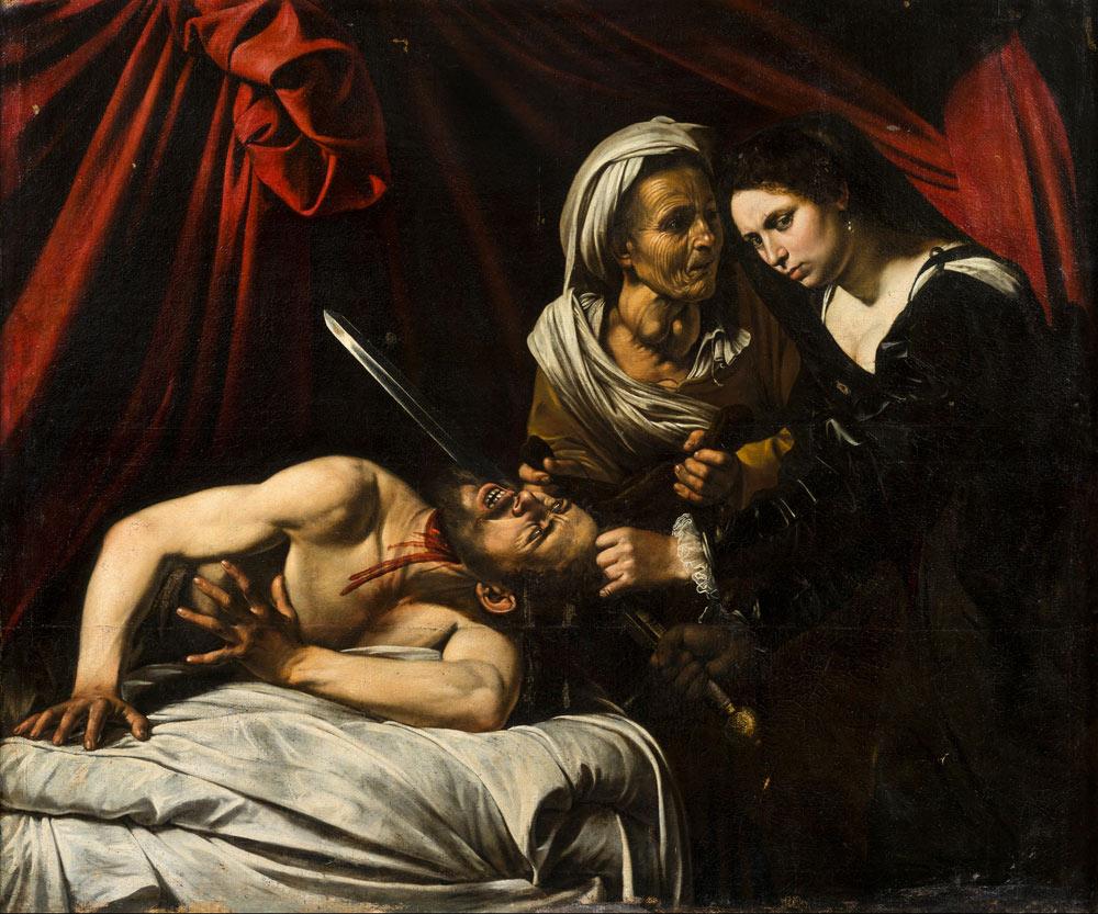 Attribuito a Caravaggio o a Louis Finson, Giuditta e Oloferne