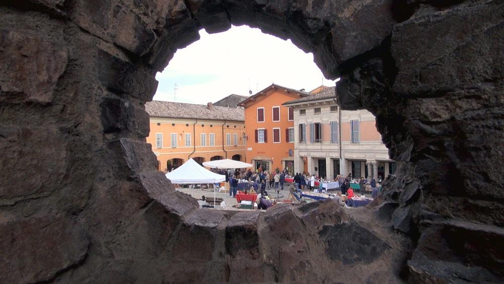 La piazza di Fontanellato vista dalla Rocca Sanvitale
