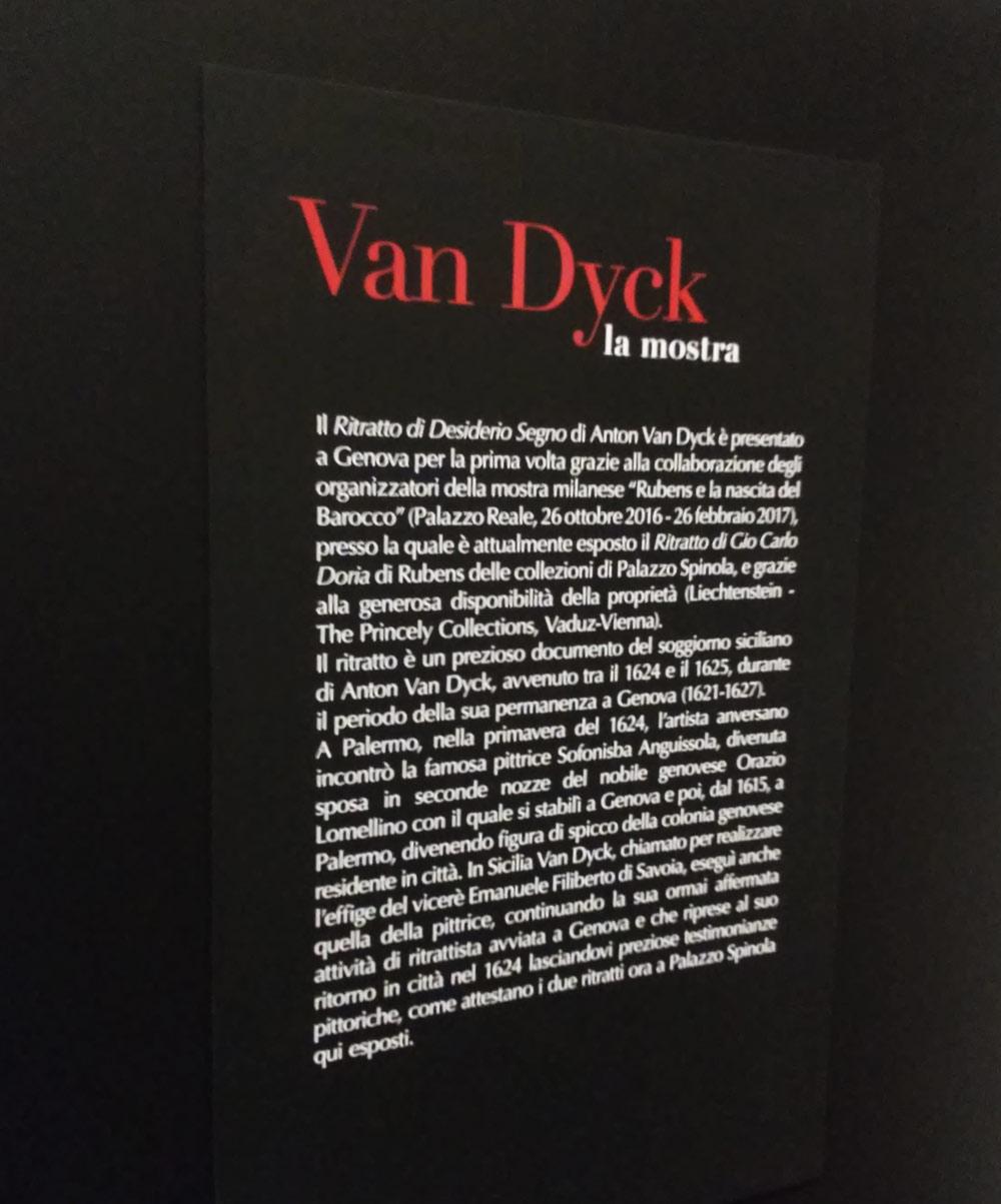 Uno dei pannelli della mostra