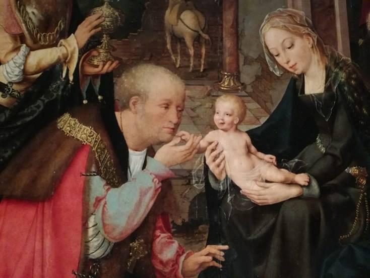 La scena centrale col Gesù Bambino