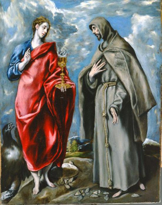 El Greco, I santi Giovanni Evangelista e Francesco