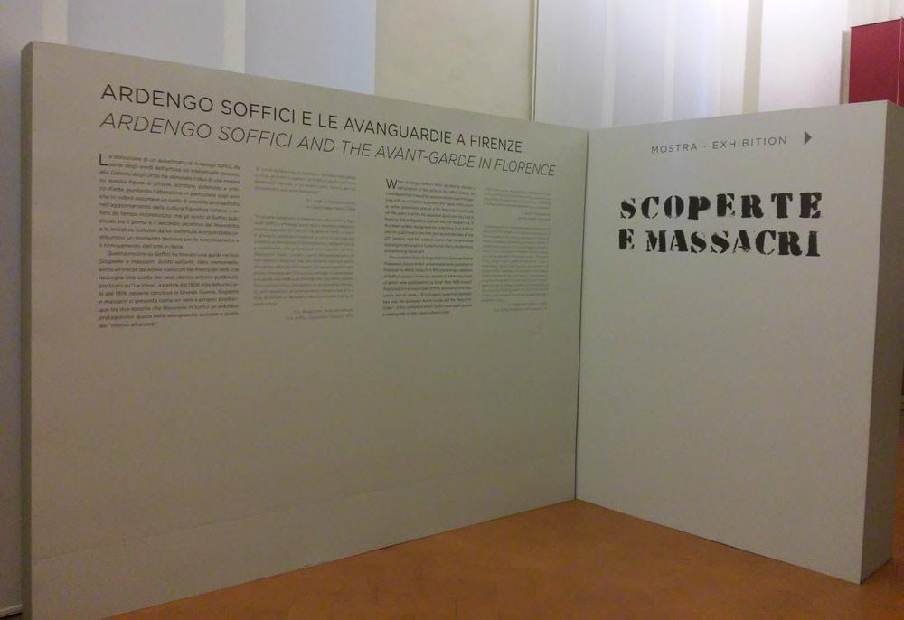 I pannelli introduttivi della mostra