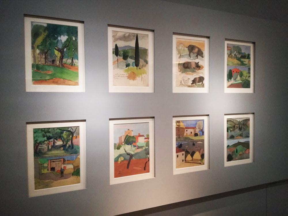 La parete con gli studi di Ardengo Soffici